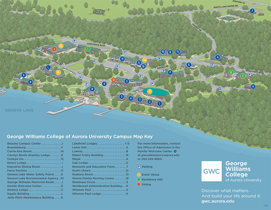 Geneva College Campus Map.George Williams College Campus Map